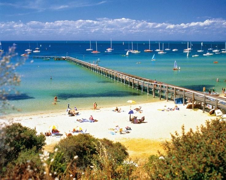 Blairgowrie beach scene