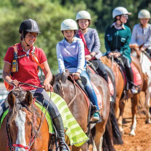 Childrens horse riding club at Main Ridge