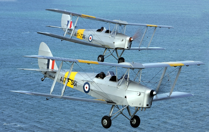 Fly in a Tiger Moth at Point Cook