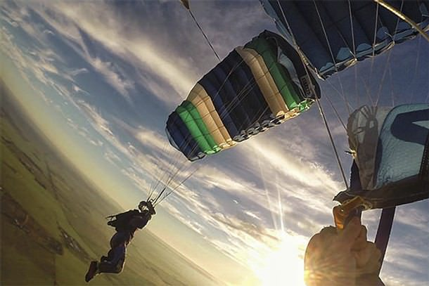 Skydiving from 15,000 feet